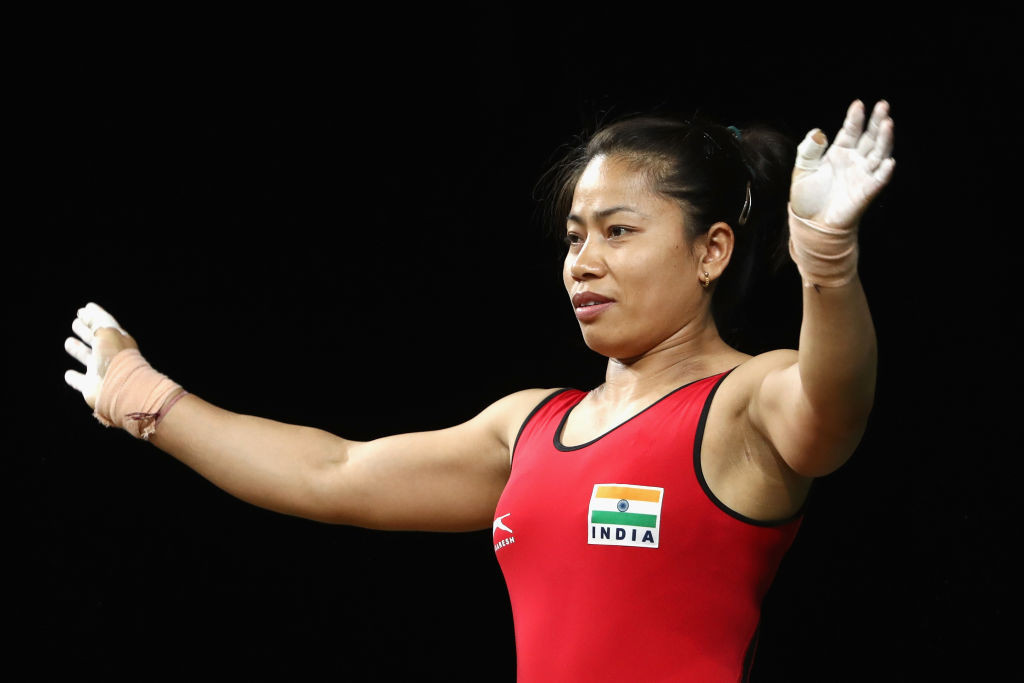 The Indian weightlifter won gold at the Glasgow 2014 and Gold Coast 2018 Commonwealth Games ©Getty Images
