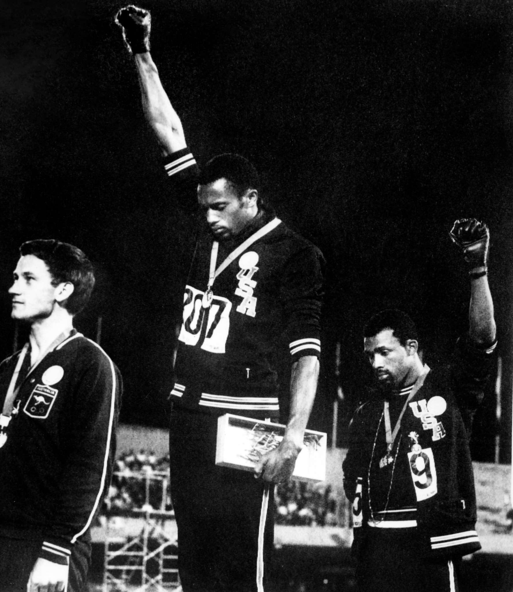 John Carlos, right, has signed the letter ©Getty Images