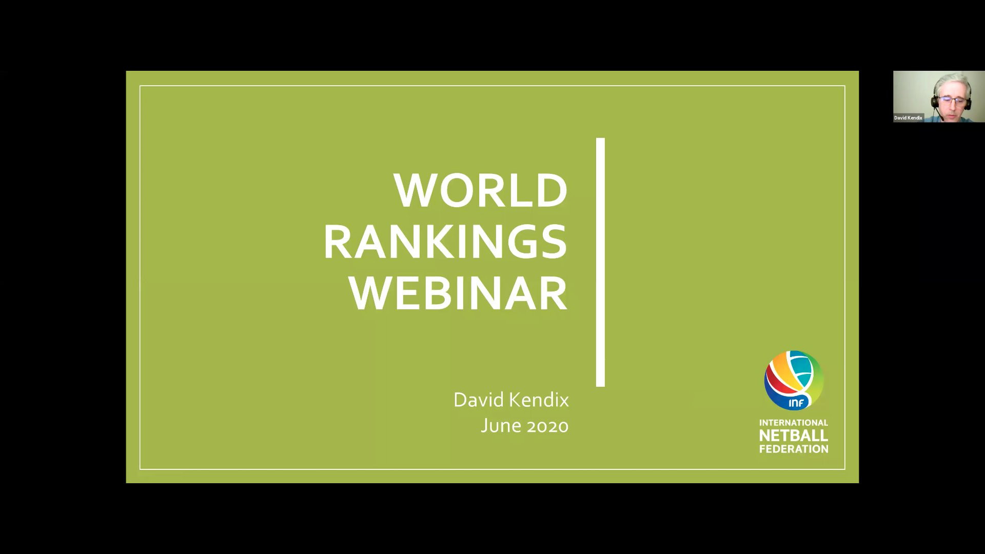 The International Netball Federation hosted a world ranking webinar for its members ©INF