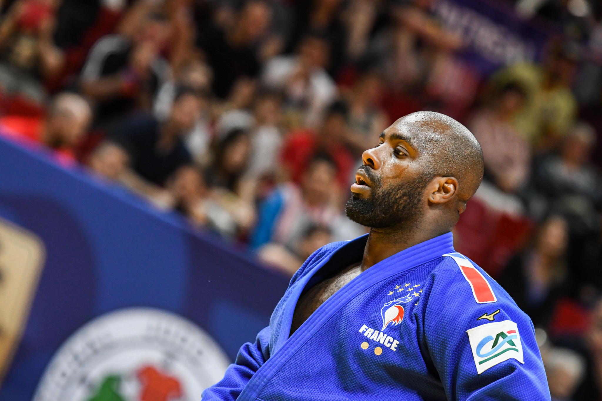 Teddy Riner was targeted by the racist graffiti in Paris ©Getty Images