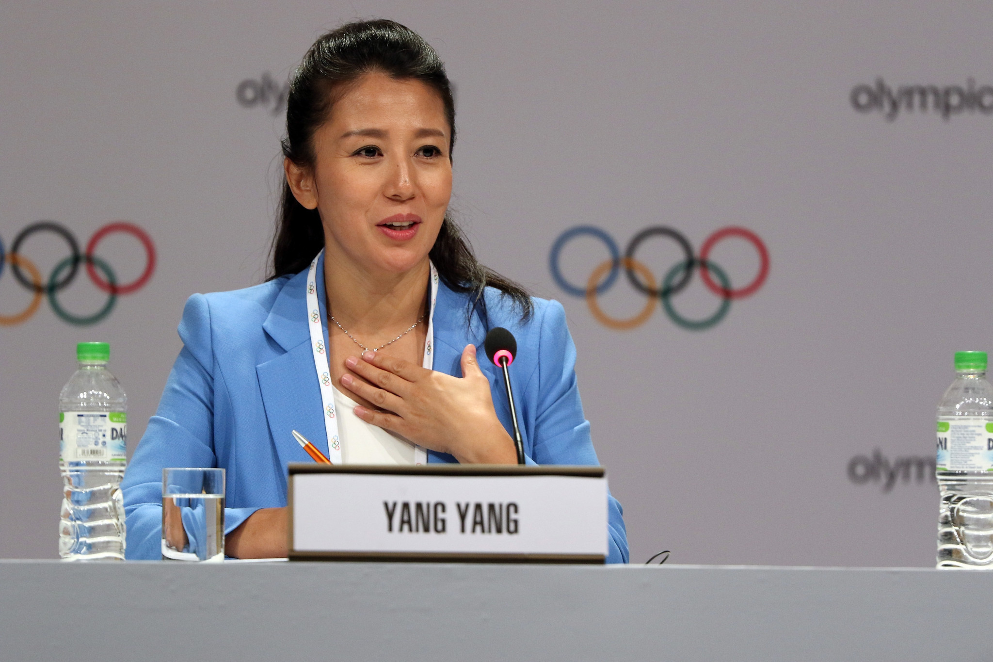 Yang Yang has called for calm in WADA's dispute with the White House ©Getty Images