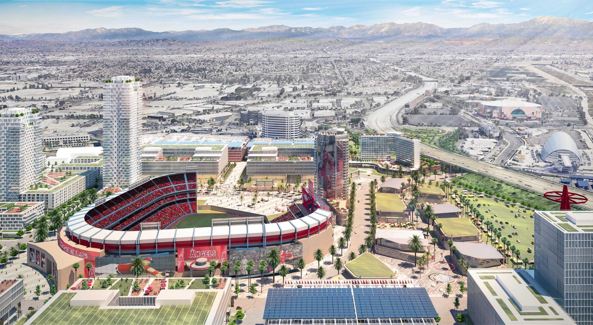 Proposals for development of Angel Stadium and surrounding area published