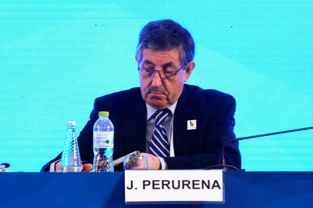 Perurena's term as ICF President extended after Congress postponed