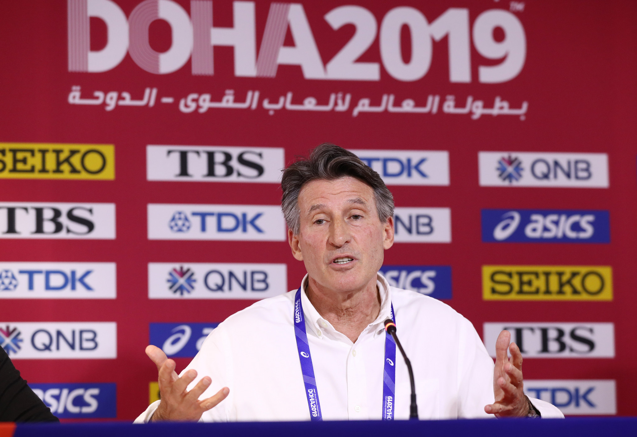 Sebastian Coe said that World Athletics was disappointed with the lack of progress ©Getty Images