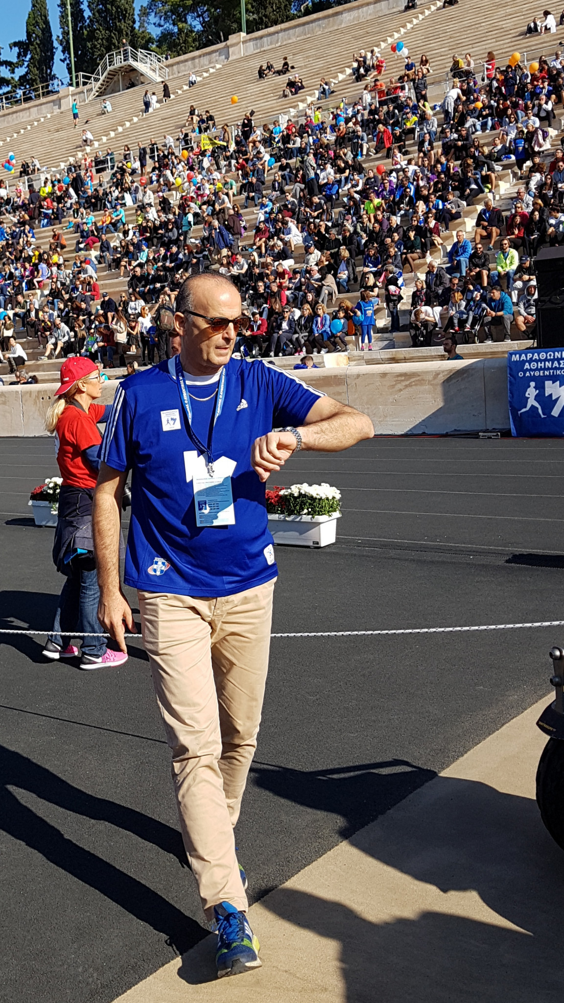 Athens Marathon general manager Makis Asimakopoulos plans to take advantage of the relatively low COVID-19 infection rate in Greece to ensure this year's race goes ahead as planned ©David Owen