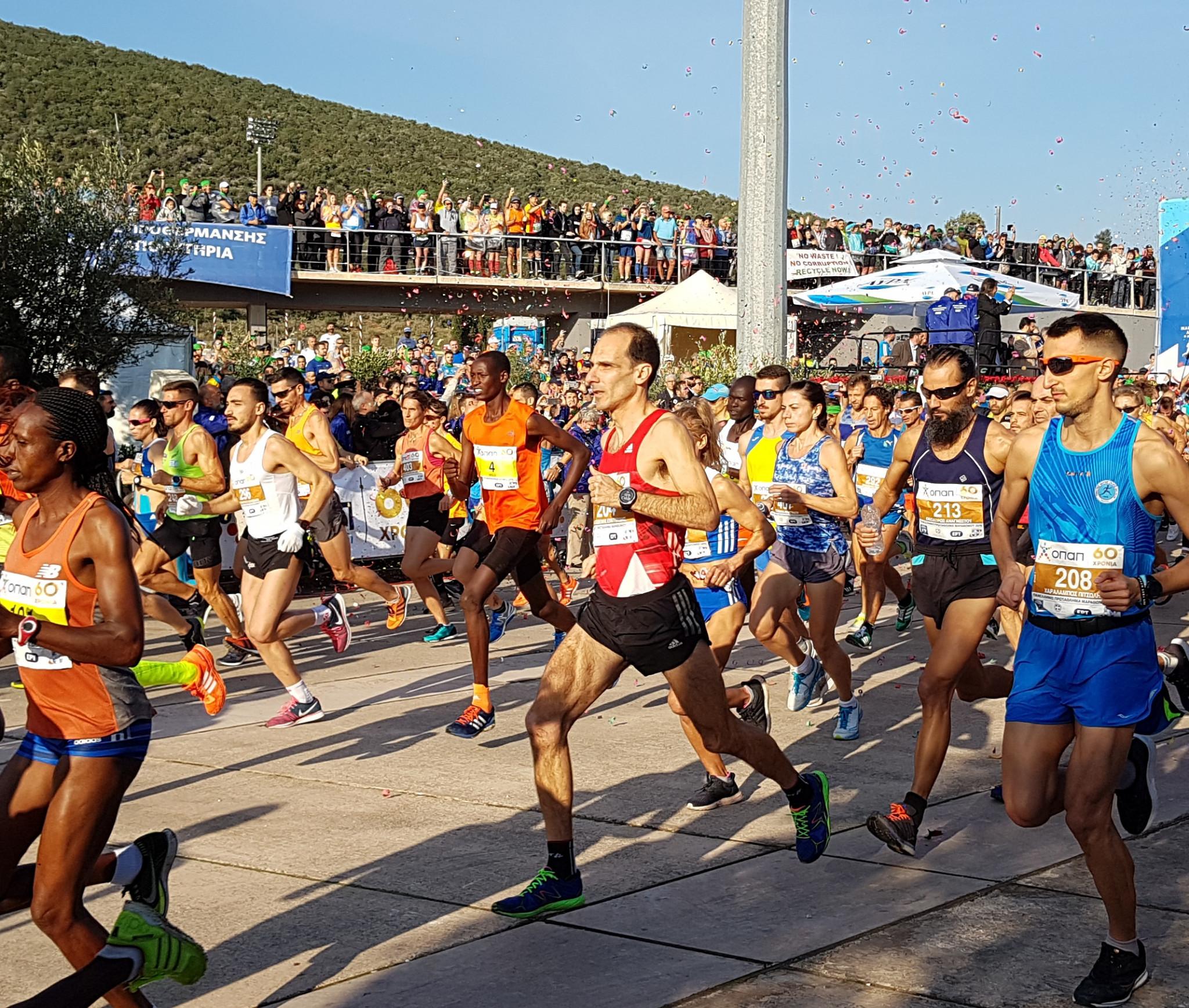 This year's Athens Marathon is set to go ahead in November as scheduled, despite the coronavirus crisis ©David Owen