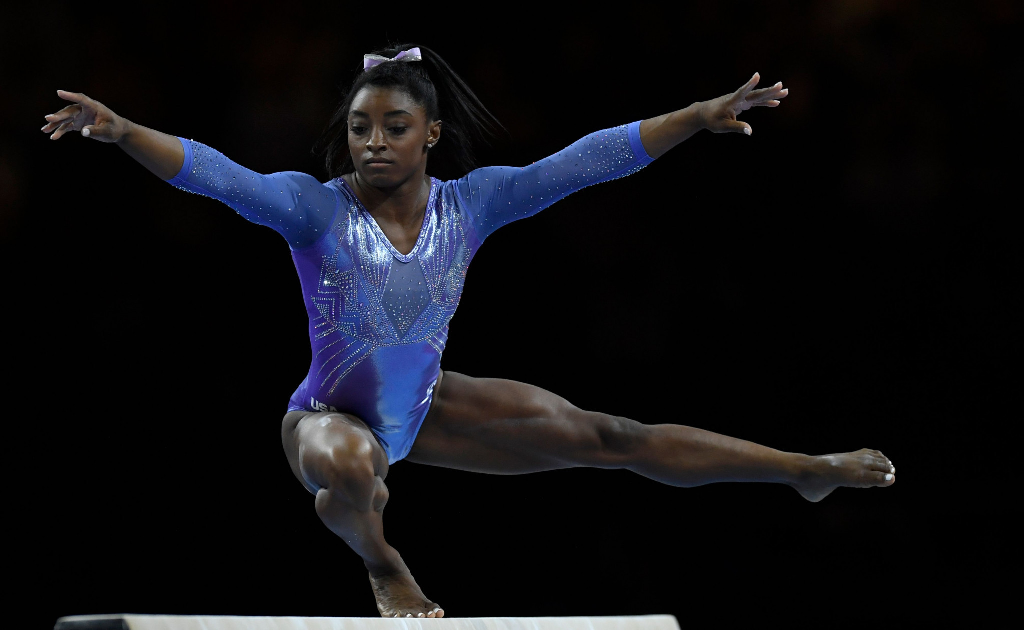 Four-time Olympic champion Simone Biles discussed her experience of abuse at the hands of disgraced doctor Larry Nassar in an interview with Vogue ©Getty Images