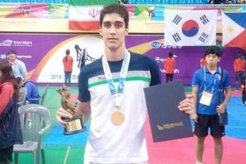 Mahdi 'The Terminator' Khodabakhshi pictured following a tournament victory in South Korea ©Twitter