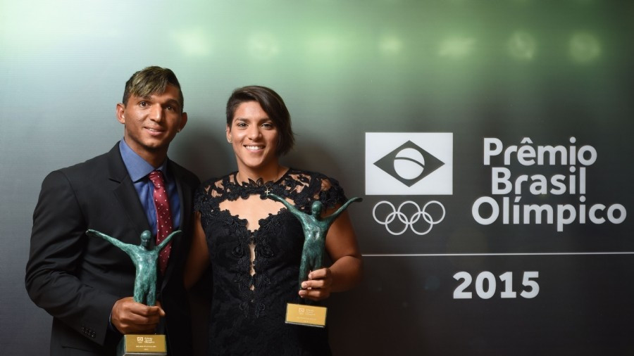 Marcela Cunha and Quieroz named Best Brazilian Athletes of 2015 at COB award ceremony