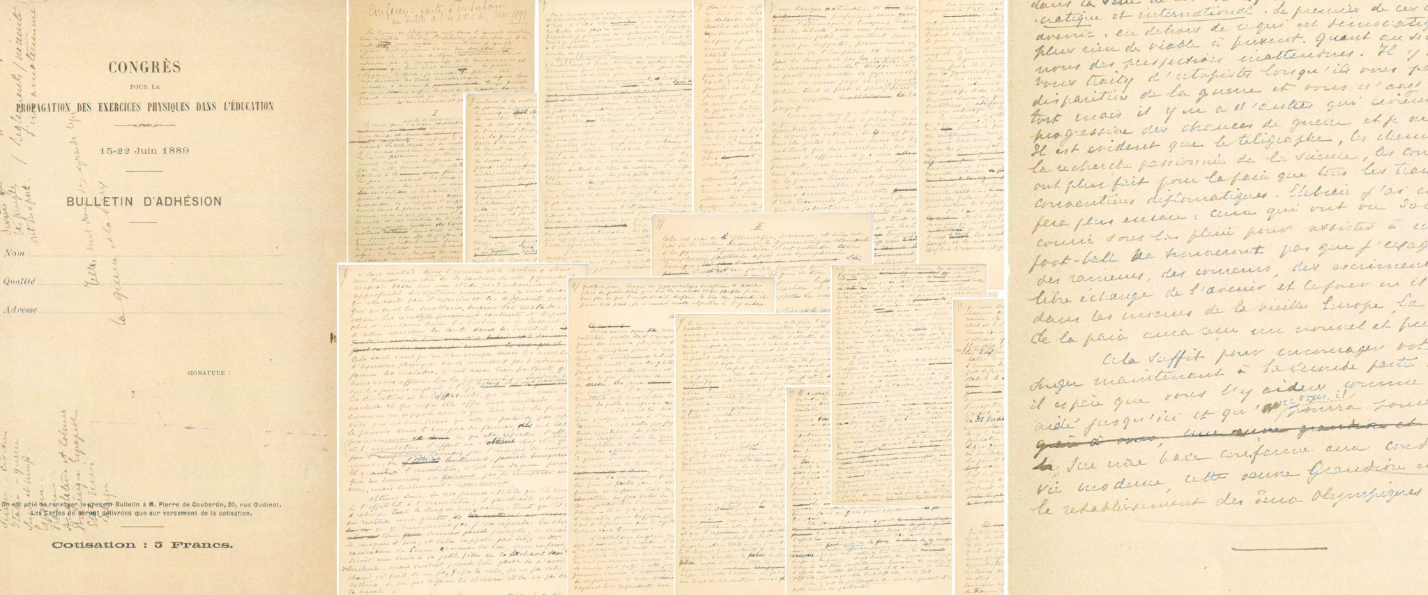 The manifesto written by Baron Pierre de Coubertin which led to the revival of the Olympic Games sold at auction last December for a record $8,806,500 ©IOC