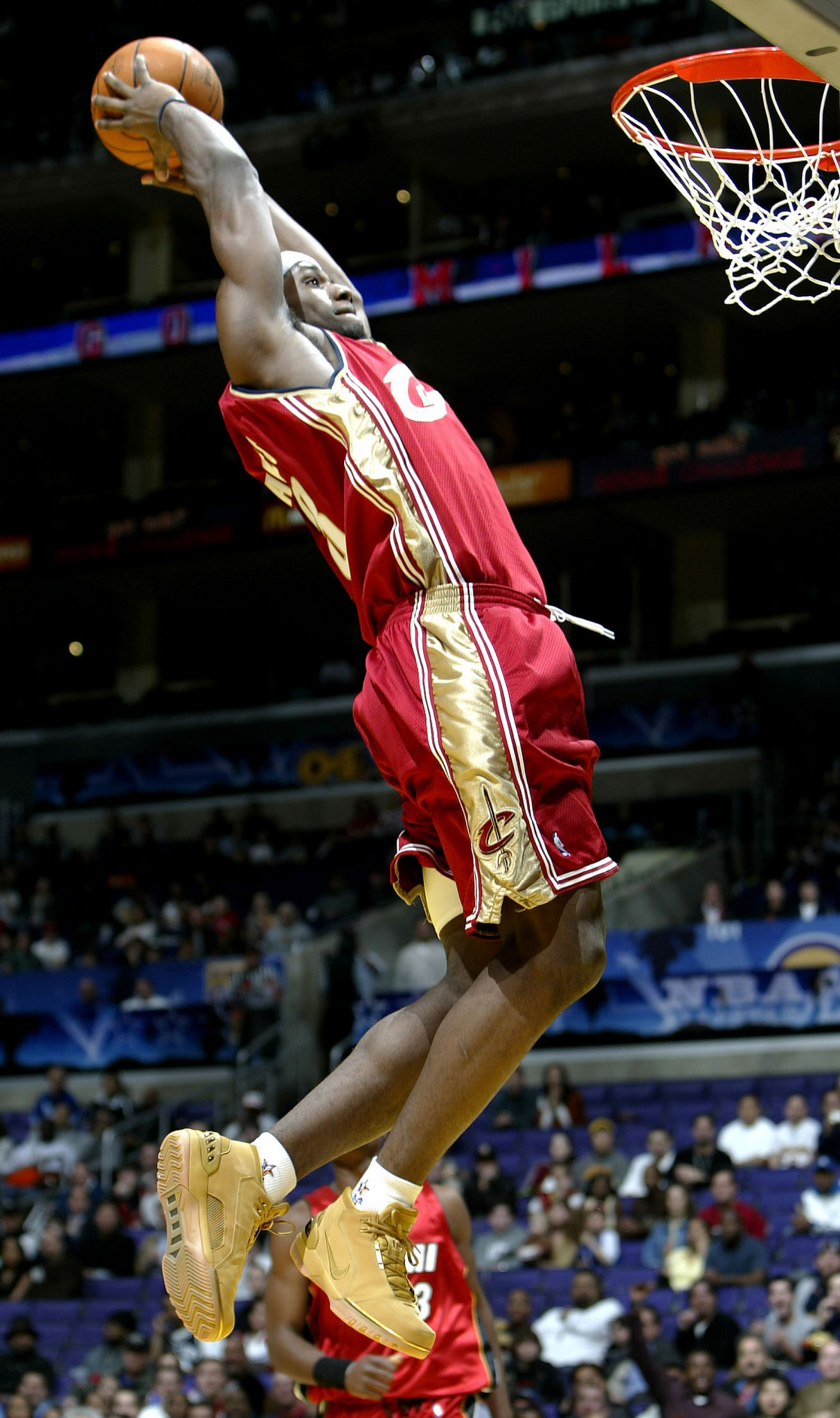 The LeBron James card which has sold for a record price of $1.8 million was issued in his rookie season with the Cleveland Cavaliers in 2003-2004 ©Getty Images