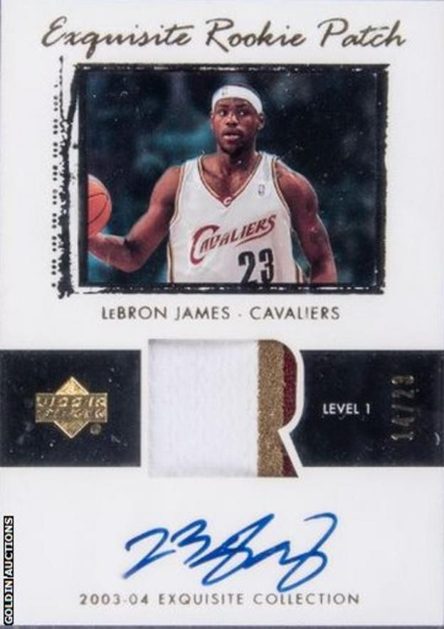 A card featuring double Olympic basketball gold medallist LeBron James has sold for a record $1.8 million at auction ©Goldin Auctions