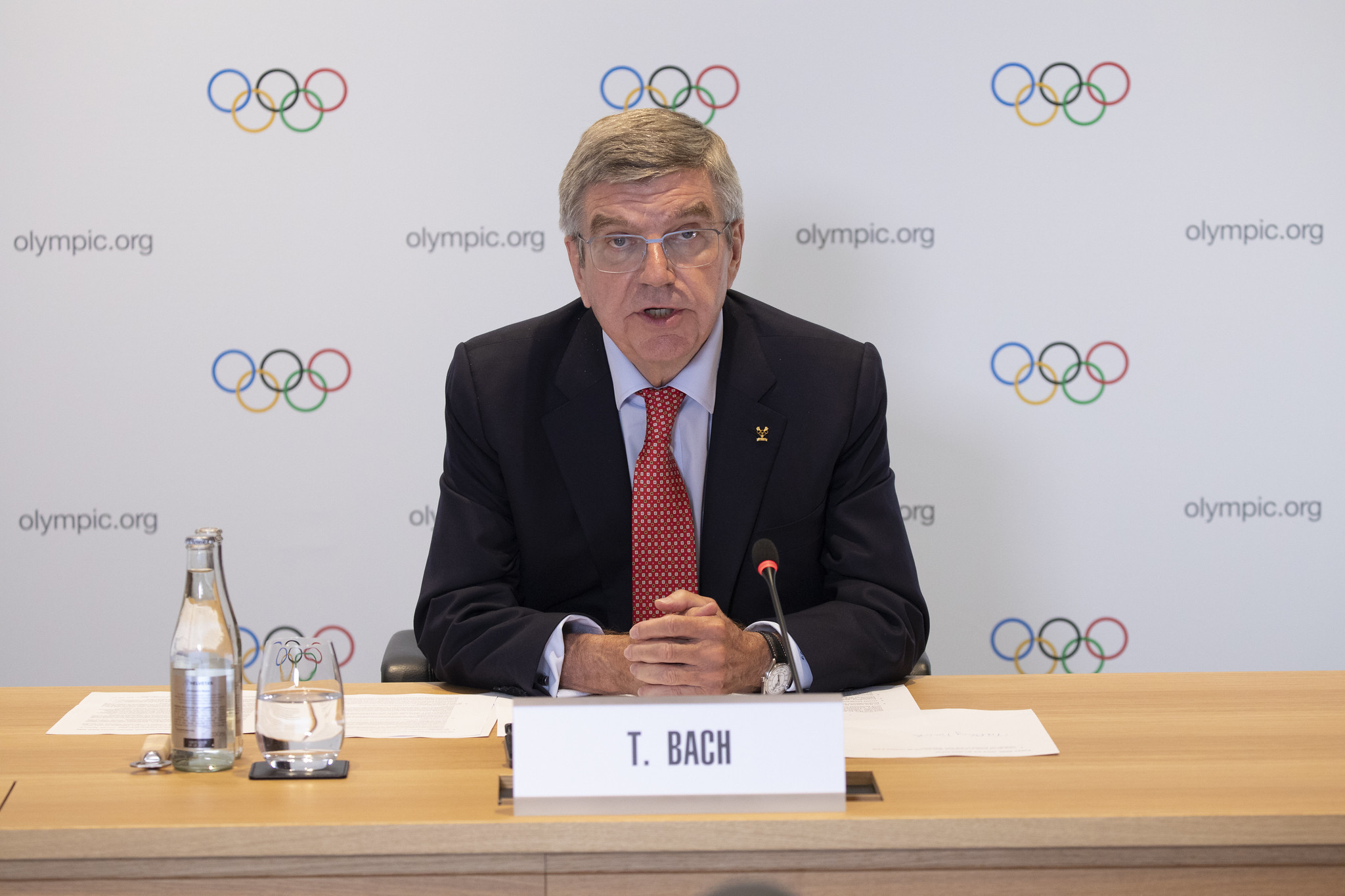 IOC President Thomas Bach confirmed he will seek a second term during the virtual IOC Session last week ©IOC