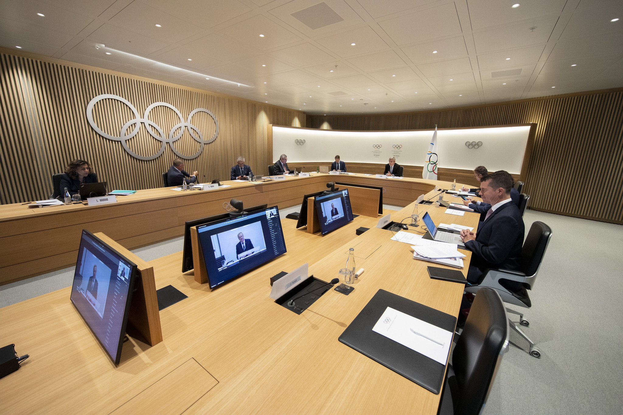 IOC members lined up to support Bach and his decision to stand for re-election ©IOC