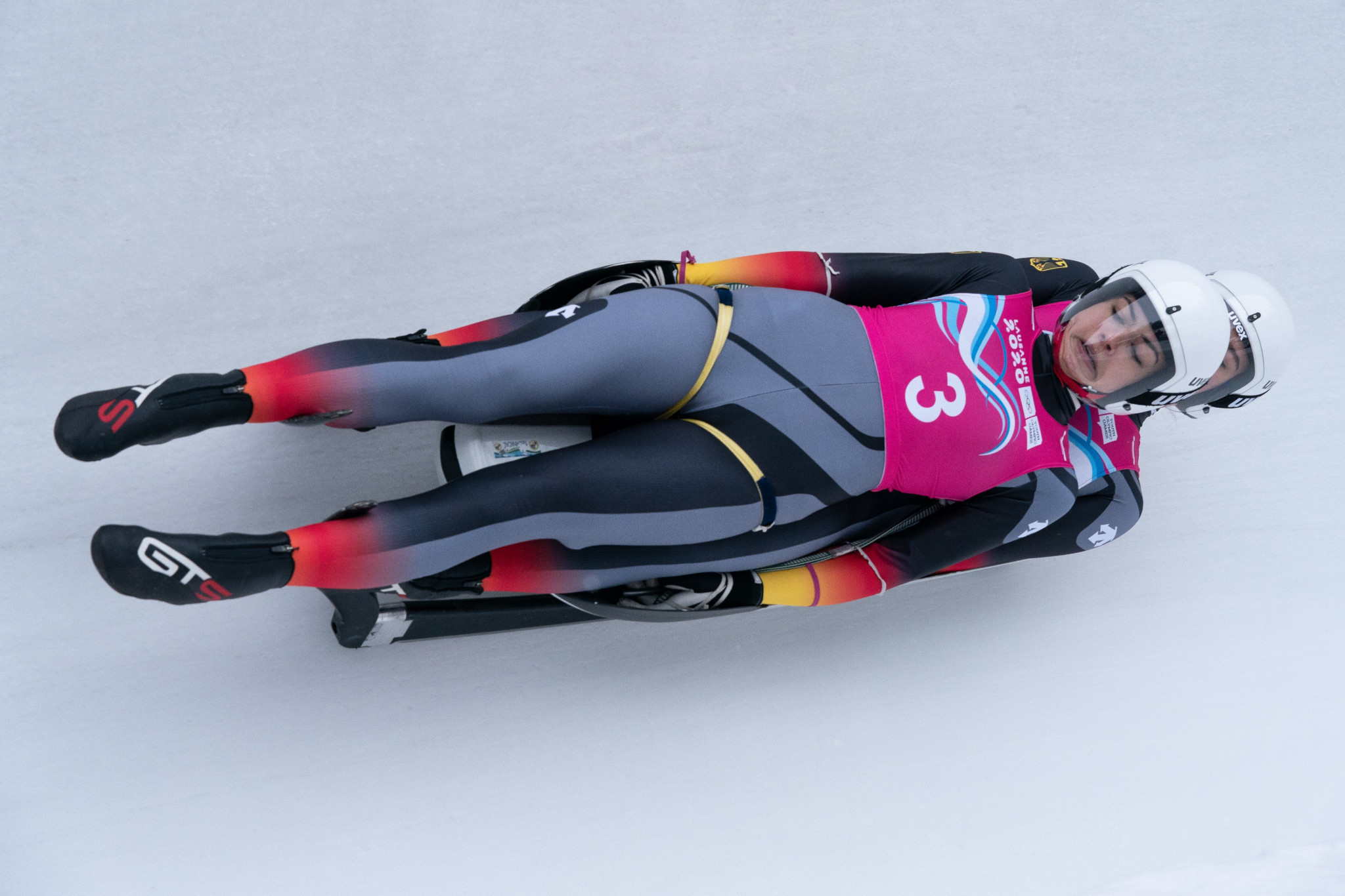 Women's doubles luge featured at the Lausanne 2020 Winter Youth Olympics ©Lausanne 2020