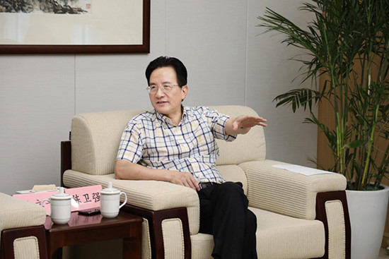 Deputy Mayor of Hangzhou Chen Weiqiang has been in attendance for media cooperation meetings linked to the Asian Games following signed a strategic agreement signed with the Zhejiang Daily Newspaper Group ©Hangzhou 2022