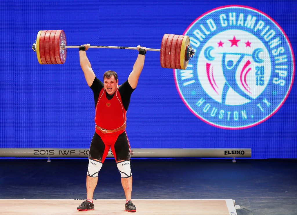 World champion Alexsei Lovchev was one of four Russian athletes provisionally suspended by the IWF ©Getty Images