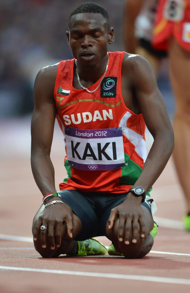 Abubaker Kaki reached the 800m semi-finals at London 2012 ©Getty Images