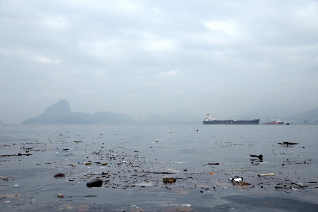 """""""Human arm"""" photographed floating in Guanabara Bay close to Rio 2016 sailing venue"""