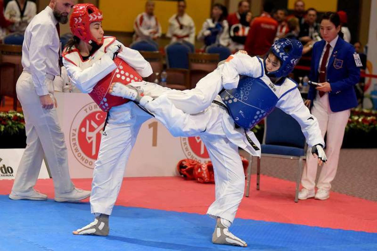 Para-taekwondo world champion Li credits the sport with raising her confidence