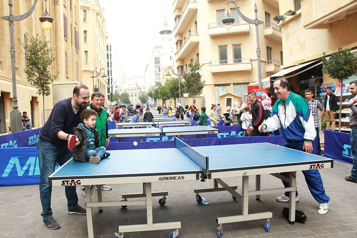 The Lebanese Table Tennis Federation organised an event in Beirut last year and it is hoped the sport can help the city recover from the horrific explosion ©LTTF