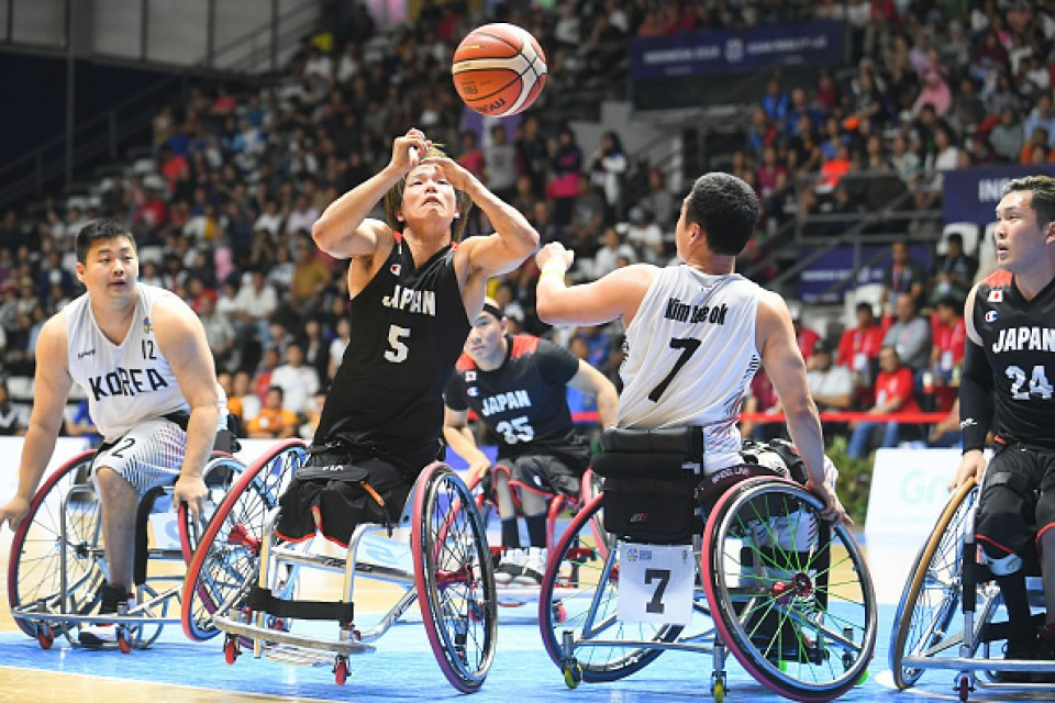 Japan's wheelchair basketball team will be at the showcase event tomorrow ©Getty Images