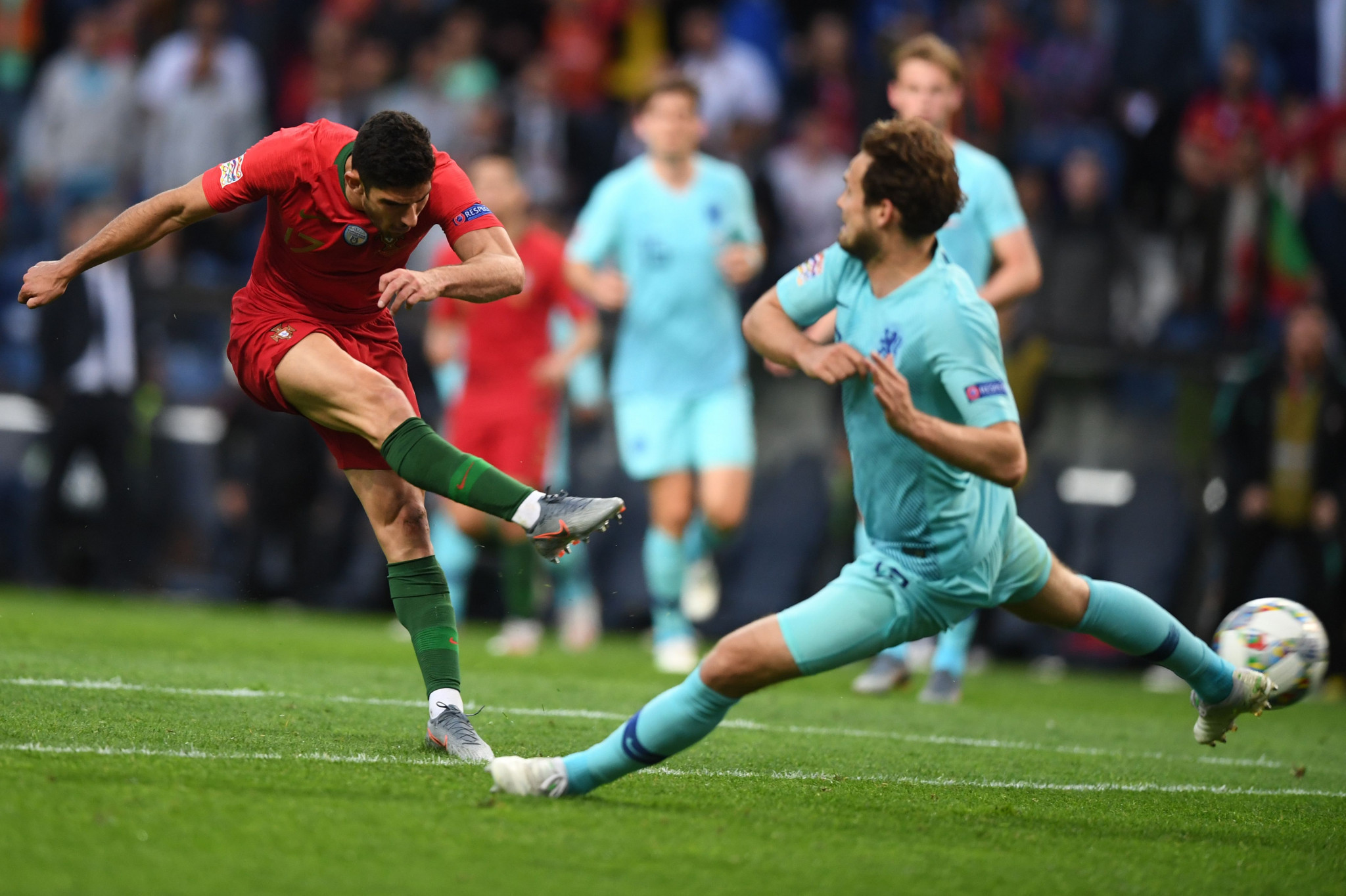 Portugal beat The Netherlands in the final of UEFA's inaugural Nations League ©Getty Images