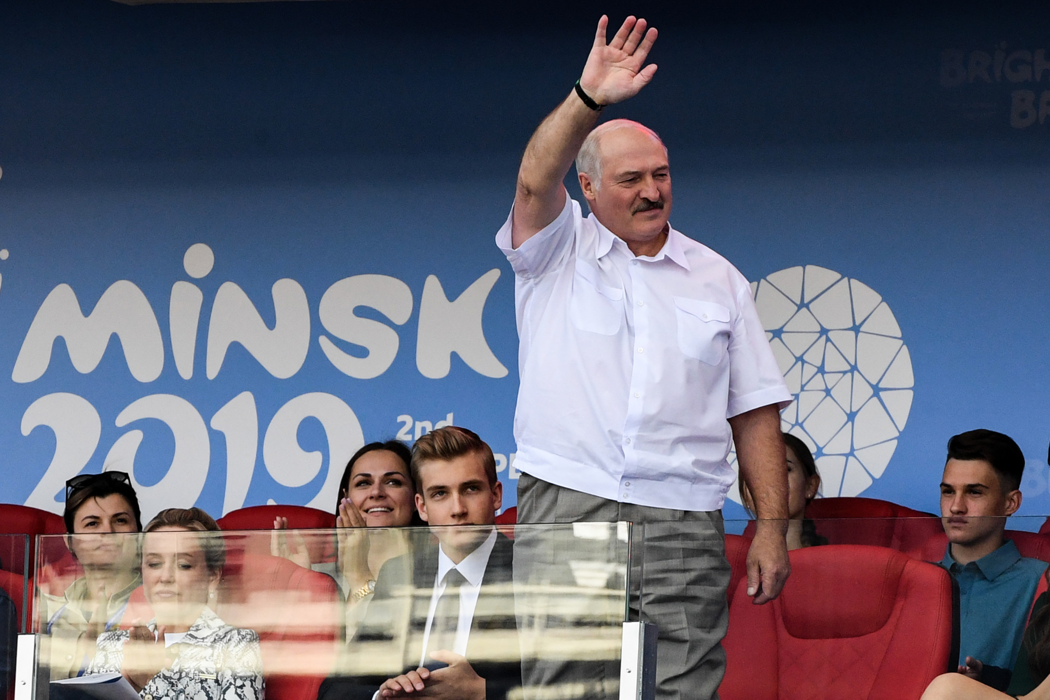 Alexander Lukashenko is a key figure in the sporting world as head of the National Olympic Committee of the Republic of Belarus ©Getty Images