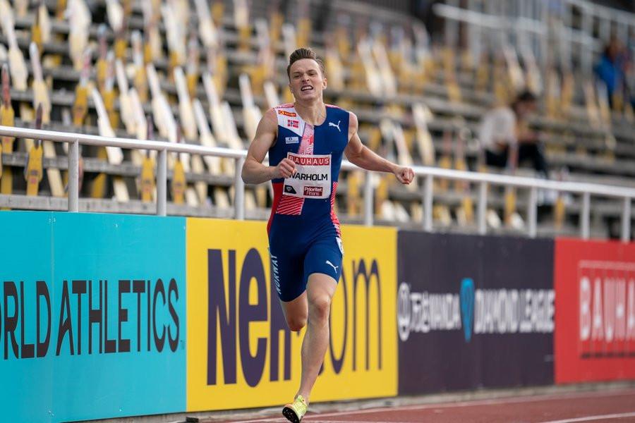 Warholm just misses 400m hurdles world record in Stockholm after hitting final barrier