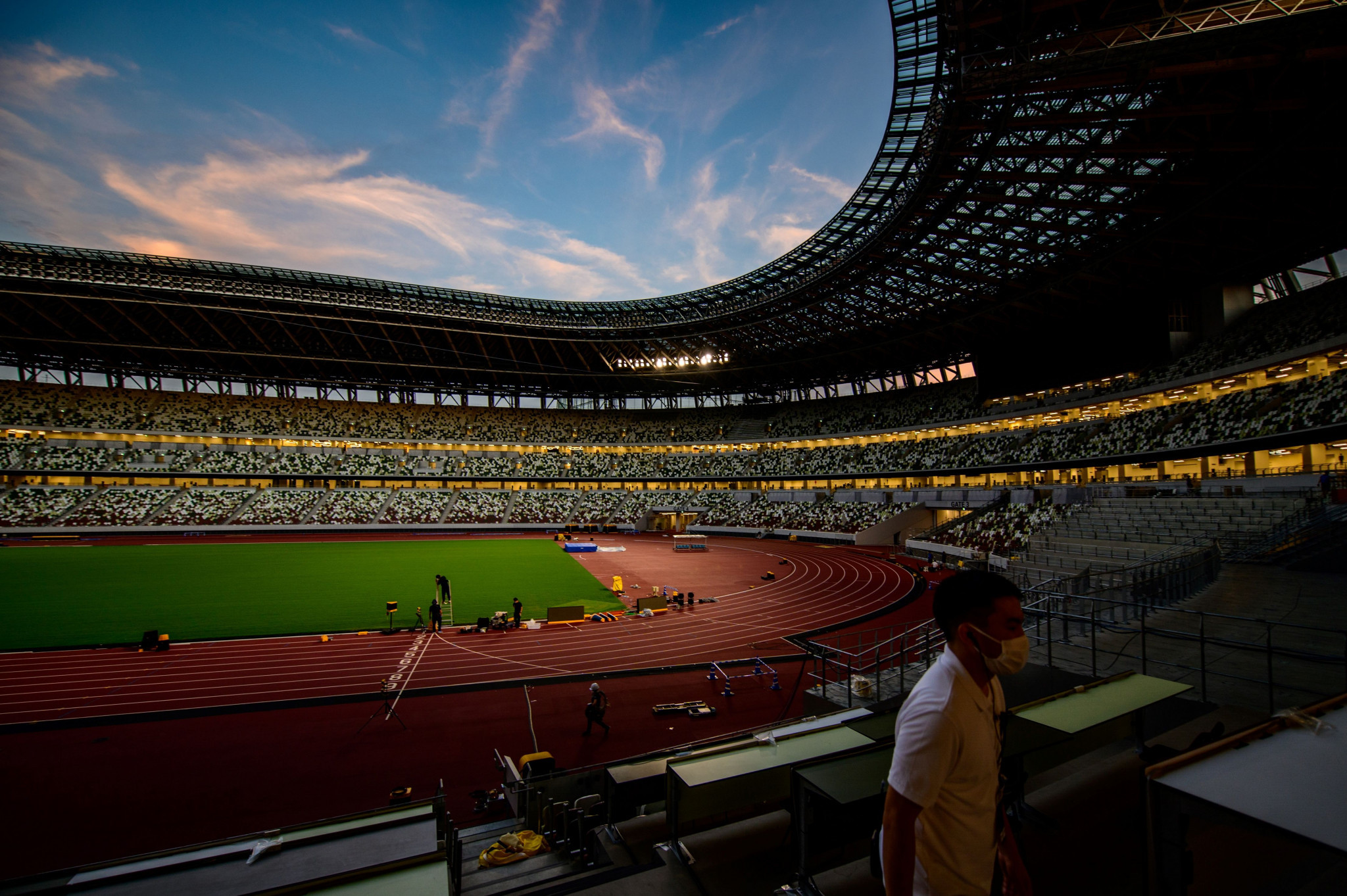 The Tokyo National Stadium held the Seiko Golden Grand Prix yesterday ©Getty Images