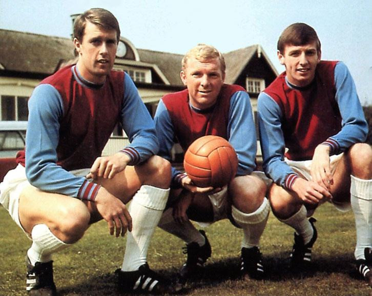 Sir Geoff Hurst, Sir Bobby Moore and Martin Peters all came through West Ham United's Academy of Football together ©Getty Images
