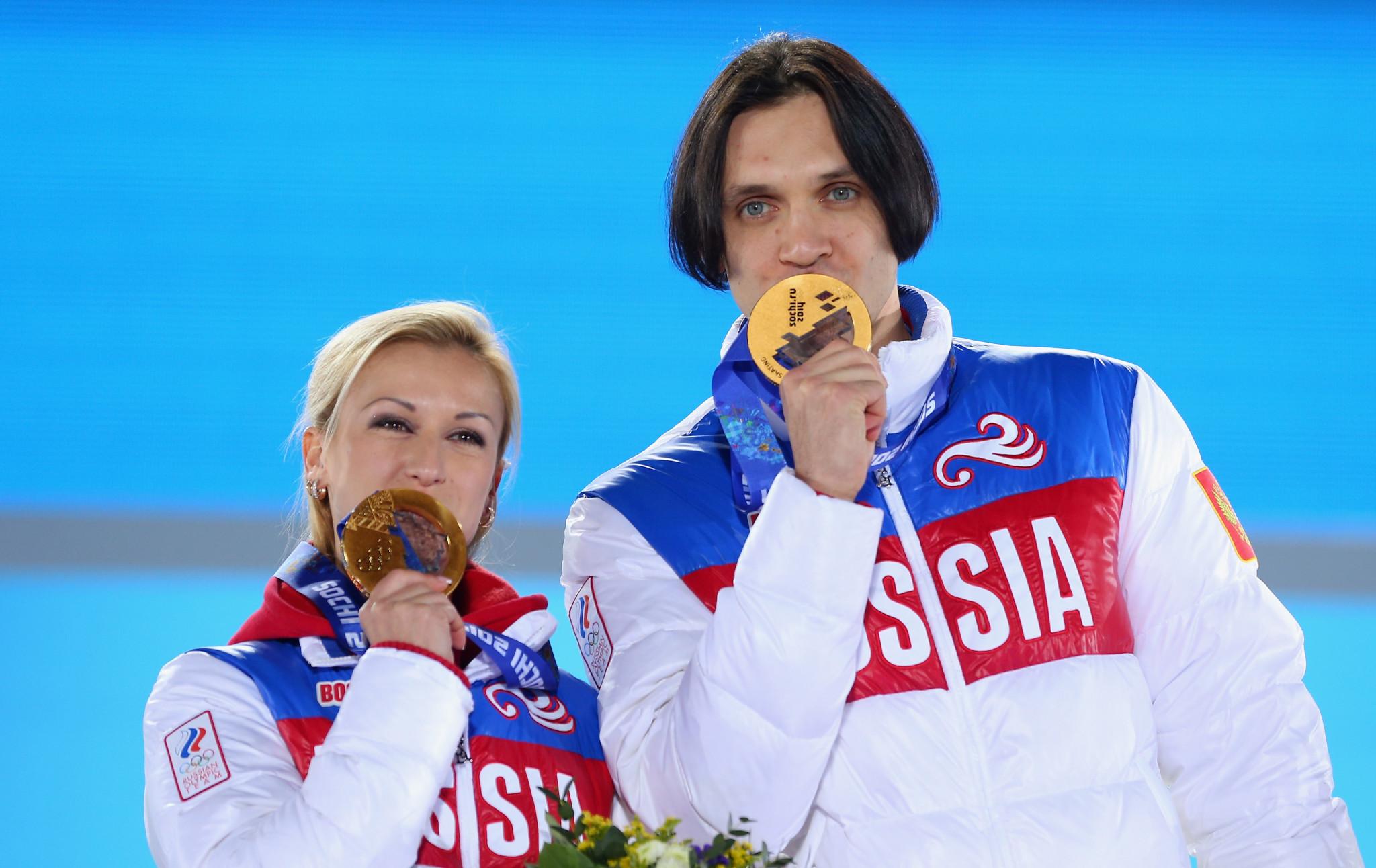 Tatiana Volosozhar won Olympic pairs gold with Maxim Trankov ©Getty Images