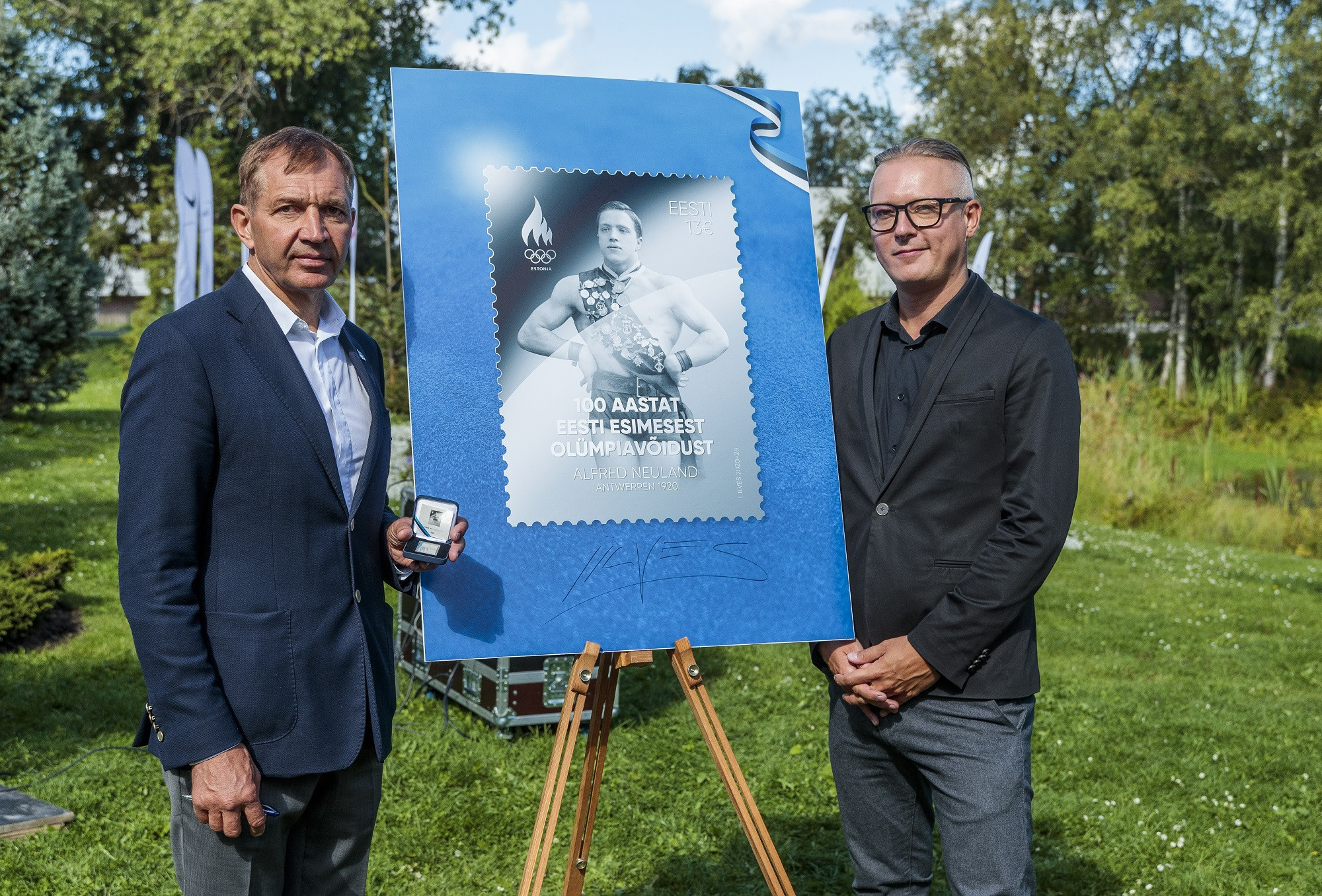 """""""Olympic powerhouse"""" Estonia issue silver stamp to mark 100th anniversary of first gold"""