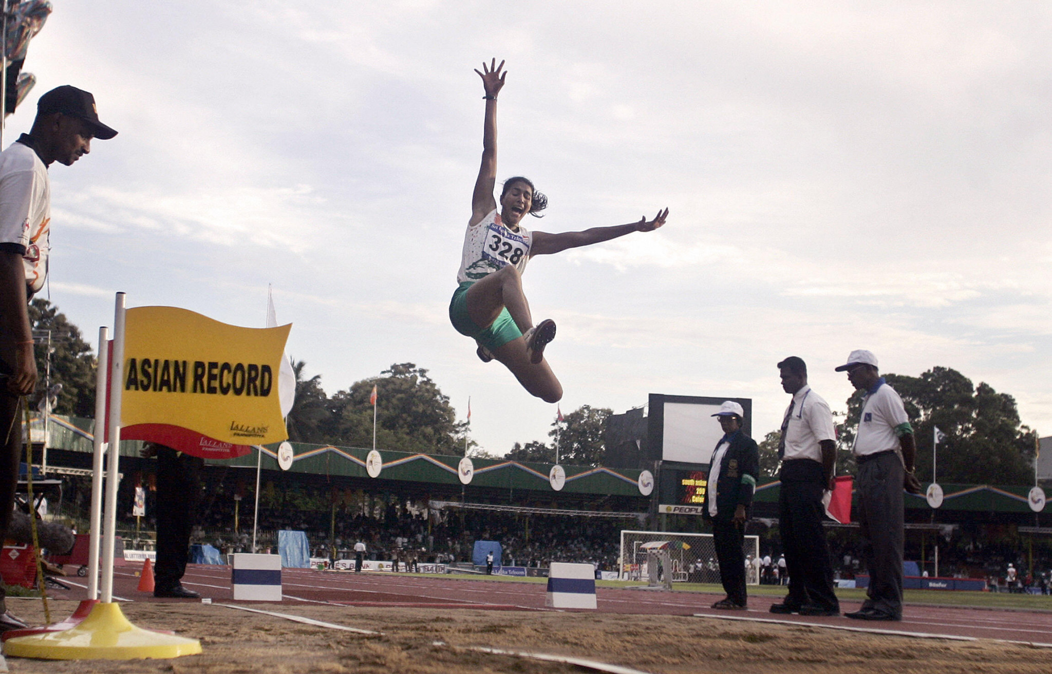 Anju Bobby George, who won world bronze in the long jump in 2003, is one of India's greatest athletics names ©Getty Images