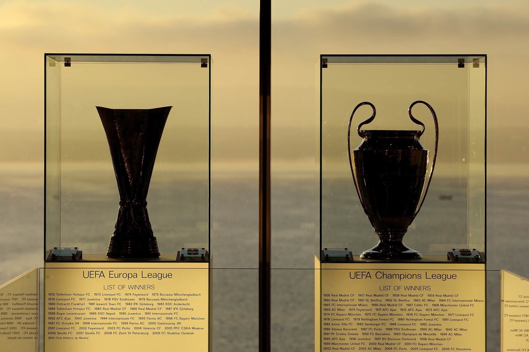 Draws for UEFA's two major club competitions moved from Athens