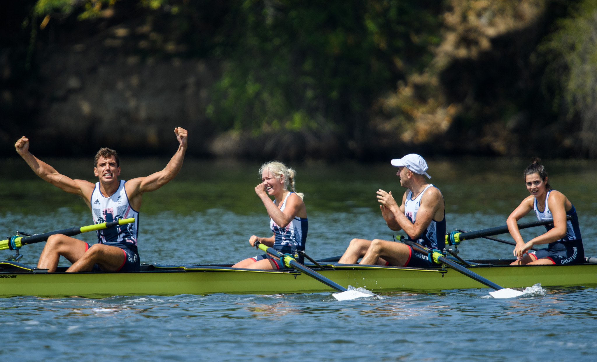 Grace Clough was a member of the gold medal-winning mixed coxed four crew at Rio 2016 ©Getty Images