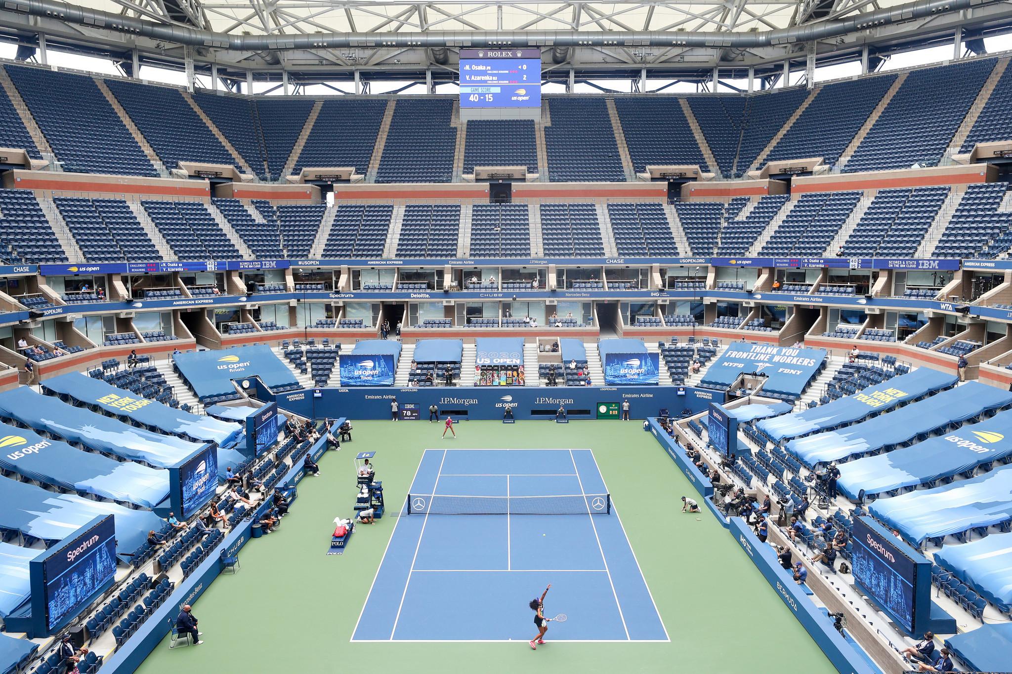 Naomi Osaka won the US Open in an empty Arthur Ashe Stadium ©Getty Images