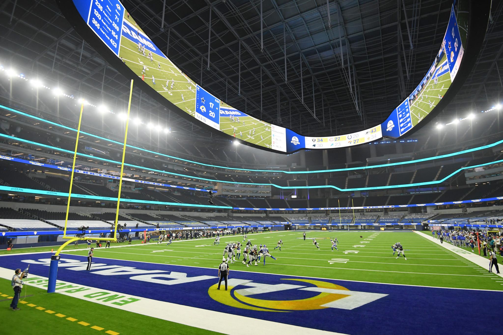"Los Angeles 2028 venue curtain-raiser takes place in  ""eerie"" atmosphere"