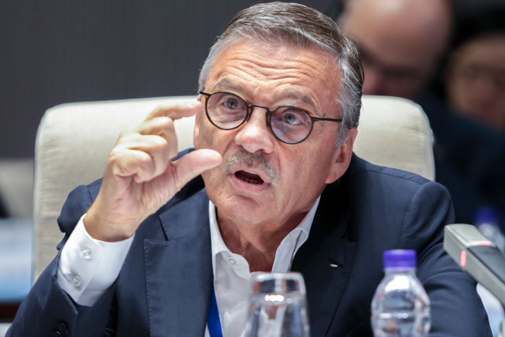 The IIHF and its President René Fasel are determined to hold the 2021 World Championship as planned ©Getty Images