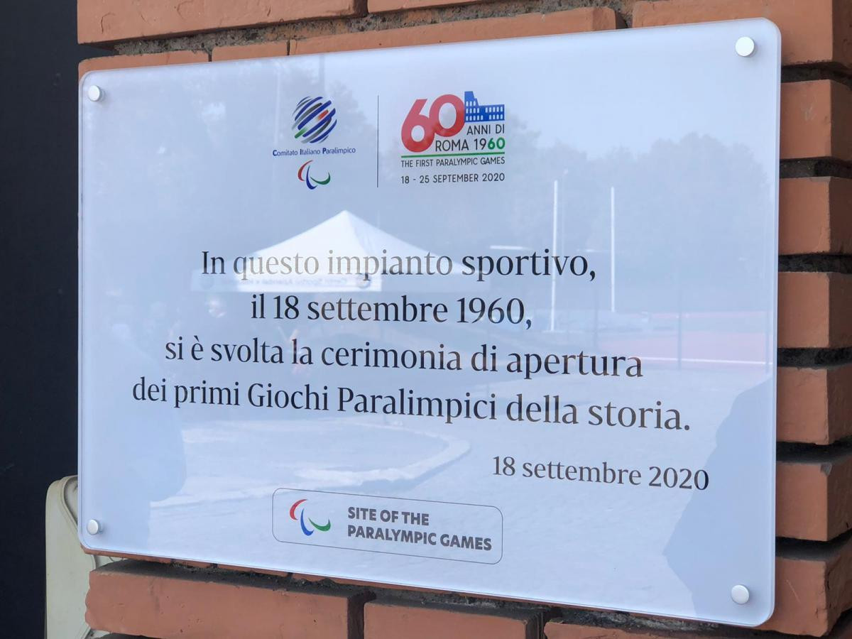 Plaque unveiled to commemorate 60th anniversary of first Paralympics in Rome