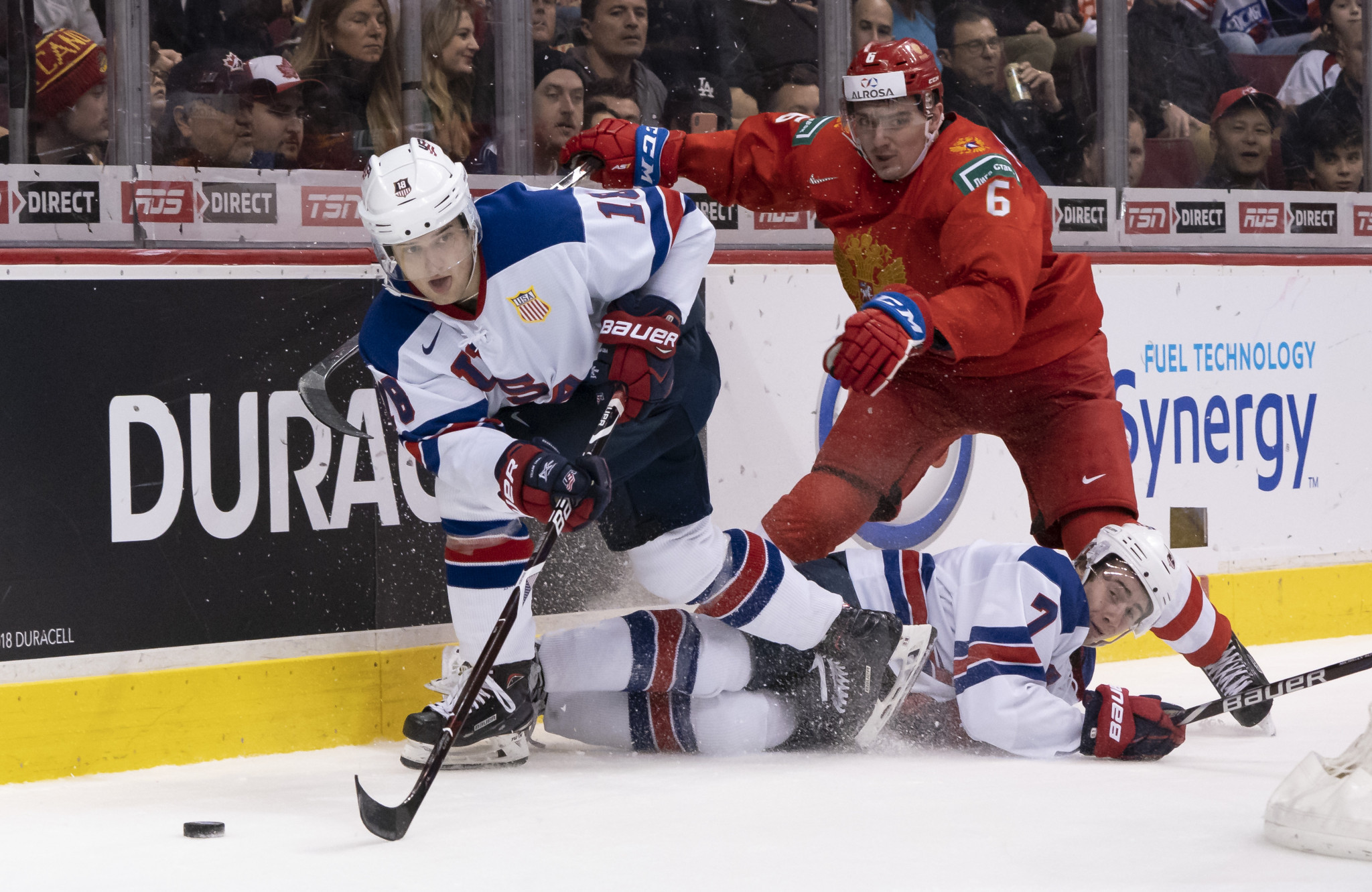 Oliver Wahlstrom of the United States in action during last year's World Junior Championship ©Getty Images