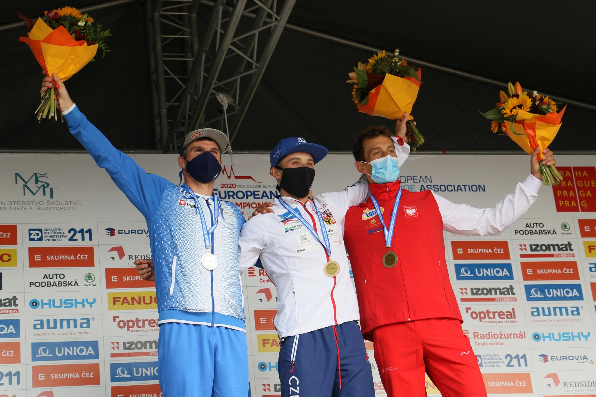 World champion Jiri Prskavec earned his fourth individual European title ©Canoe Europe