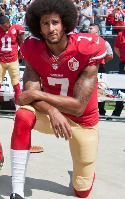 The jersey worn by Colin Kaepernick, the man credited with starting the Black Lives Matter movement, on his NFL debut for the San Francisco 49ers in 2011 is being put up for auction ©Getty Images