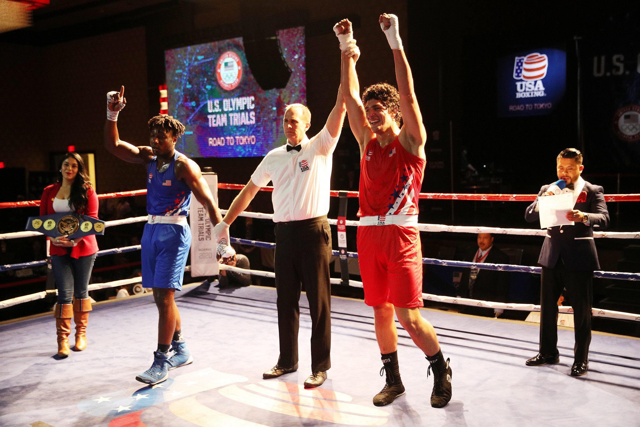 Lake Charles Civic Center hosted the United States Olympic boxing trials in December ©Getty Images