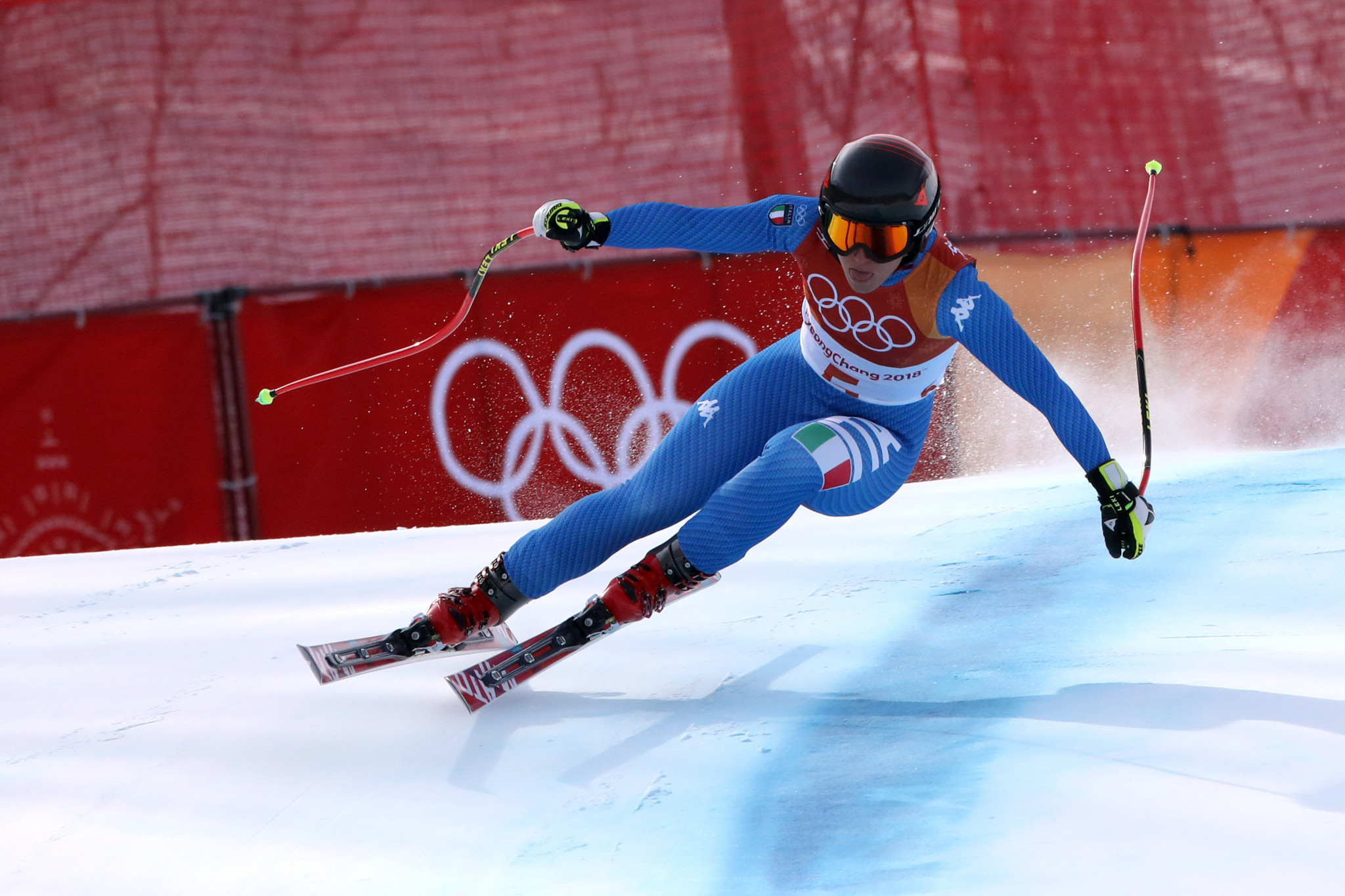 Sofia Goggia is one of 13 athletes in the running for the FISI 2021 Athlete of the Year award ©Getty Images