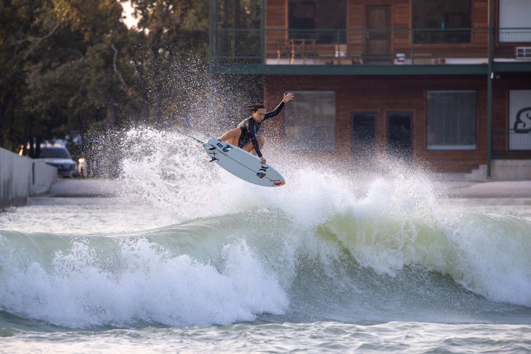Carissa Moore getting some air at the BSR training camp ©USA Surfing