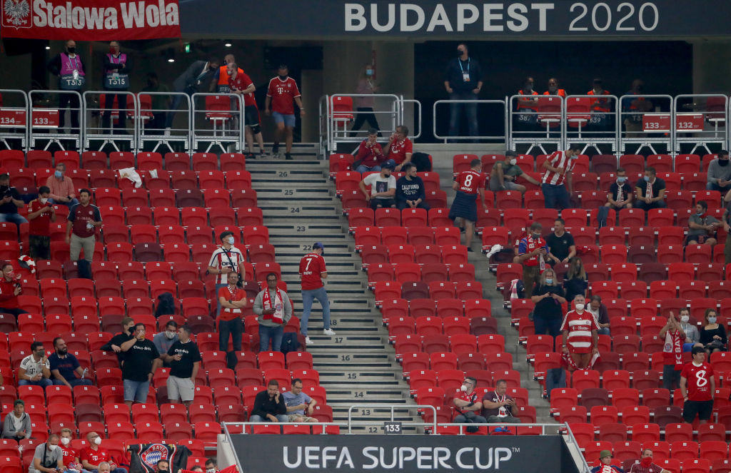 More than 15,000 fans were in attendance to watch the match in Budapest ©Getty Images