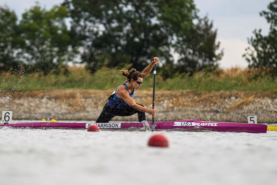 Nevin Harrison of the United States clinched gold in the C1 200 metres at the Canoe Sprint World Cup ©ICF