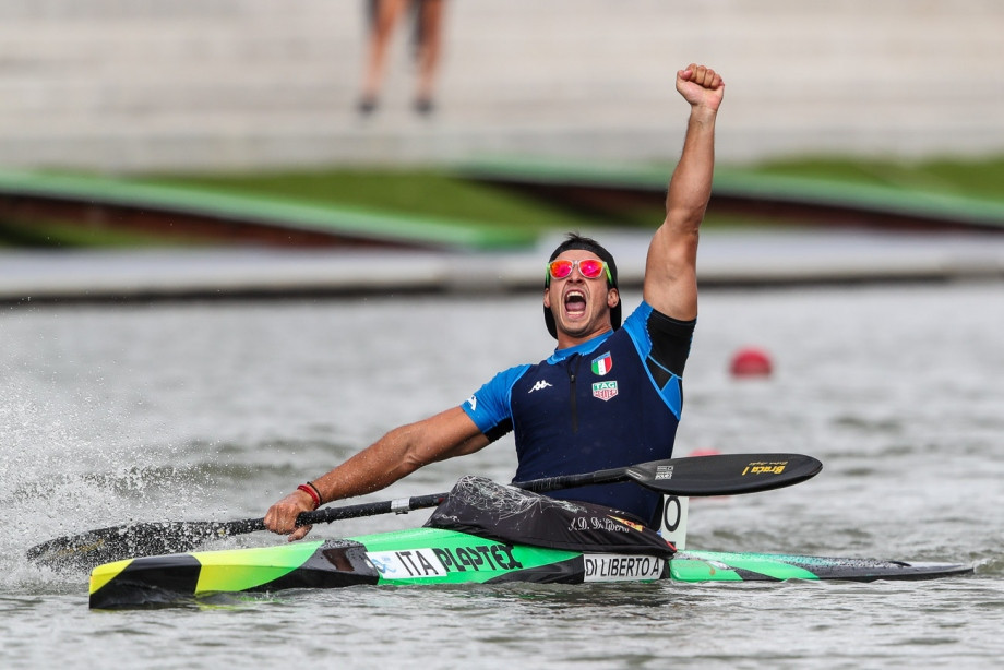 Andrea Di Liberto of Italy was the winner of the men's K1 200m ©ICF