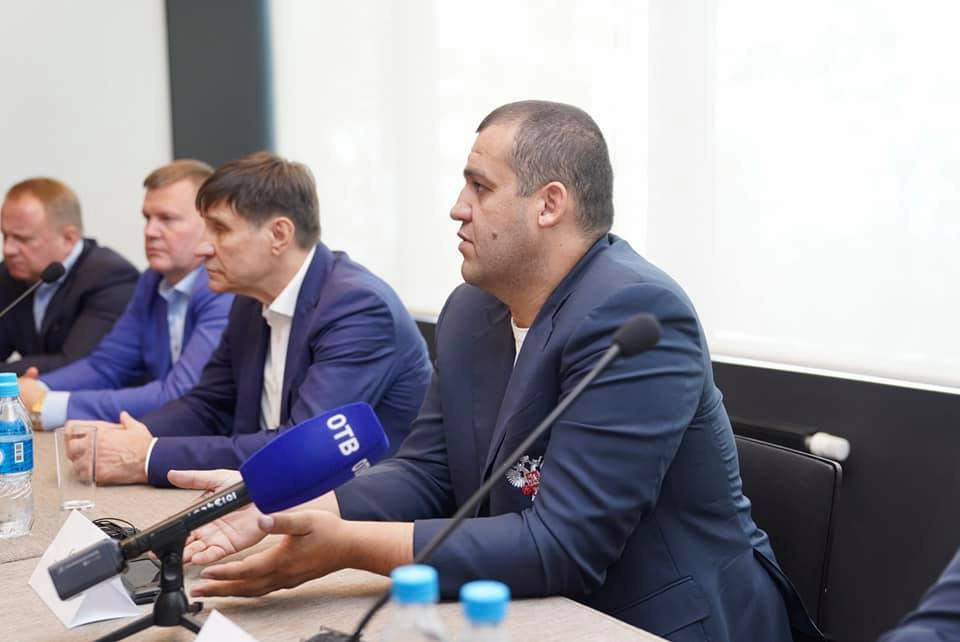 EUBC first vice-president Umar Kremlev led the opposition to plans for Suleyman Mikayilov to be Europe's only candidate to stand for President of AIBA ©Russian Boxing Federation